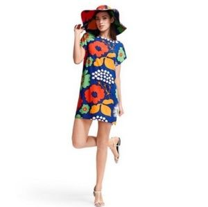 Marimekko Target Graphic Floral Blue Shirtdress